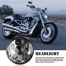 "For Harley 5-3/4""Motorcycle Headlight 5.75"" LED Daymaker Projector DRL Head Lamp"