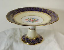 Aynsley Cake Plate Cobalt Lush Gold Gilt Decorated c 1929