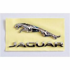 JAGUAR LEAPING CAT and Graphic Letters 3D EMBLEM BADGE