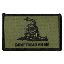 Don't Tread On Me Military Tactical Patch Tape Army Morale Badge Green for Jeans