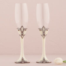 Decorative Fleur De Lis Wedding Toasting Flutes Weddingstar