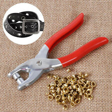 Carbon Steel Setter Plier + 100Pcs Eyelets Grommets for Leather Belt Bag Shoes