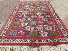 "Anatolia Antique Turkish Antalya Nomads Kilim 55,9"" x 92,9"" Area Rug Carpet"