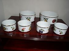 "SET OF 6 ALFRED MEAKIN "" EVESHAM"" CASSEROLES/ DISHES"