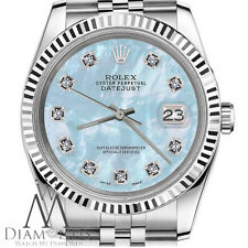 Rolex 26mm Datejust Baby Blue MOP Mother Of Pearl Diamond 18K SS Jubilee Watch