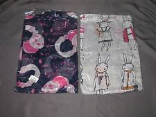 "Set of 2 Viscous Sheer Rabbits & Headphones Scarves Wraps Shawls 40"" x 70"""