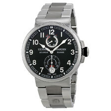 Ulysse Nardin Maxi Marine Black Dial Stainless Steel Mens Watch 1183-126-7M-62