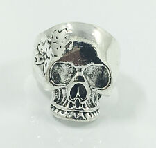 Hot Men's Woman 316L Stainless Steel Vogue Design Mini Skull Ring Size 11