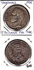 E508 MONEDA VENEZUELA 5 BOLIVARES 1936 MBC