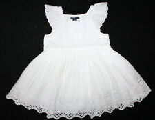 NWT Baby Gap White Eyelet Flutter Beach Cruise Dress Size 18-24 Months AWESOME!
