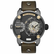 Diesel Men's DZ7364 Little Daddy Automatic Dual Zone Olive Green Leather Watch