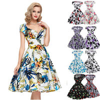 Pinup Ladies 50s 60s Vintage Retro Dress Housewife Prom Evening Swing Party