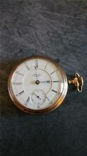 VINTAGE 18 SIZE WALTHAM CRESCENT STREET POCKETWATCH MOVEMENT FROM 1889