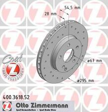 ZIMMERMANN 400.3618.52 FRONT SPORT BRAKE DISCS PAIR (COAT Z)