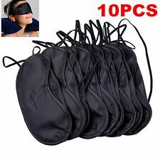 10Pcs Soft Comfortable Eye Mask Shade Cover Blindfold Night Sleeping Black