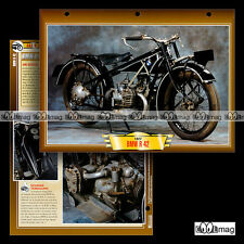 #129.09 Fiche Moto BMW 500 R 42 (R42) 1926-1928 / Classic Motorcycle Card