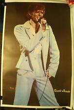"Rare Vintage 1970's David Bowie 23 X 35"" Poster On Stage Concert"