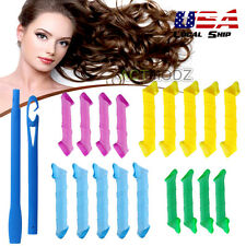 18Pcs/Set Magic Bendy Hair Styling Curl Rollers Spiral Curlers Spiral Circle USA