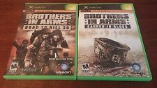 BROTHERS IN ARMS HILL 30 + EARNED IN BLOOD BUNDLE LOT XBOX! VERY GOOD COMPLETE!