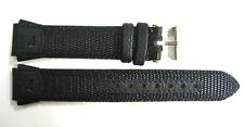 18MM LEATHER NYLON BLACK FS WATCH BAND STRAP FITS TIMEX IRONMAN EXPEDITION