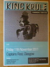 King Krule Formerly Zoo Kid - Glasgow -  2011 concert gig A3 poster