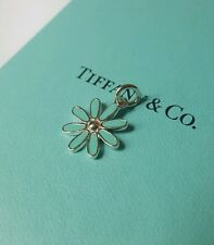 RARE Tiffany & Co Sterling Silver enamel blue daisy charm 4 bracelet/ NEW
