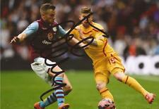 ASTON VILLA: TOM CLEVERLEY SIGNED 6x4 2015 FA CUP WEMBLEY ACTION PHOTO+COA