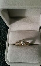 10k Yellow Gold Ring  .24 TCW Diamonds In A Marquise Shape Size 7.75