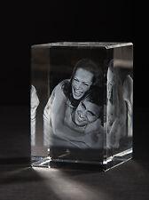 3D Laser Foto im Viamant Glas Block Genova 60x60x90mm Glasfoto Bilder Geschenk