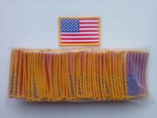 "50 USA American Flag (G) Embroidered Patches 3""x2"""