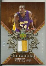 2007-08 UD Artifacts - KOBE BRYANT - 3 Color Game Jersey Patch - LAKERS #d 2/5