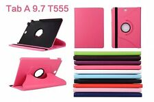 "FUNDA CARCASA TABLET SAMSUNG GALAXY TAB A 9.7"" T550 T555 GIRATORIA ROSA FUCSIA"