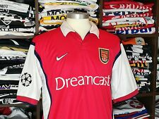 ARSENAL FC home 1999/2000 shirt - BERGKAMP #10 - Ajax-Inter Milan-Holland-Jersey