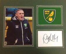 A 12 x 10 inch mounted display personally signed by Dean Kiely of Norwich City