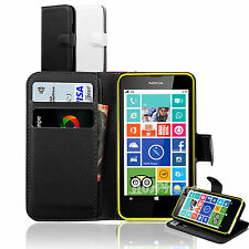 Premium Wallet Leather Stand Case Cover For Microsoft Nokia Lumia 640