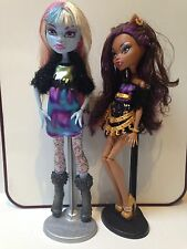 MONSTER HIGH LOT OF 2: CLAWDEEN WOLF & ABBY BOMINABLE incl. accessories pictured
