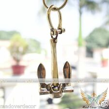 MARITIME NAUTICAL VINTAGE SHIP ANCHOR WITH HANDCUFF KEYCHAIN KEYRING COLLECTIBLE