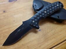 Emerson Knives Police Utility Knife PUK-BTS Black Serrated Edge - Dimpled