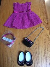American Girl Truly Me Merry Magenta Outfit, Holiday Christmas   NEW !!!!!