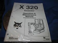 Bobcat X320 Mini Excavator OPERATION  & Maintenance Manual INGERSOL RAND  NEW