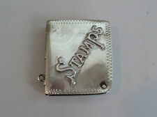 NICE VICTORIAN PERIOD STERLING SILVER STAMP HOLDER, CHATELAINE  ACCESSORY