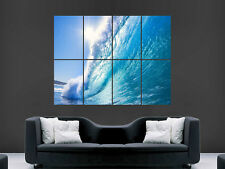 Blue Wave Mar Surf gran Pared Imagen Poster Gigante Gran Arte