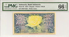 P-65 1959 5 Rupiah, Bank of Indonesia, PMG 66EPQ