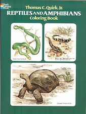Reptiles and Amphibians Coloring Book from Dover Publications, NEW PB