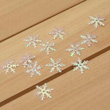 Hot 100Pcs felt snowflake/Appliques/craft/Wedding decoration DIY H159
