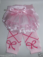 NEW  Baby girl Leg Warmers  0-24 MONTHS PINK ballet diaper cover bloomer set