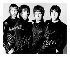 OASIS SIGNED AUTOGRAPHED A4 PP PHOTO POSTER A