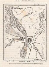 13 BEAUCAIRE ET TARASCON CARTE MAP IMAGE 1878 PRINT
