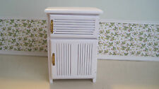 Dollhouse Miniature  Furniture ~ Old Fashioned Icebox Made of Wood ~ White ~
