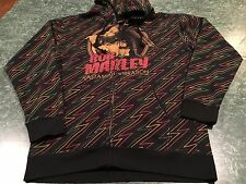 Zion Rootswear BOB MARLEY Full Zip Hoodie Adult Size Large